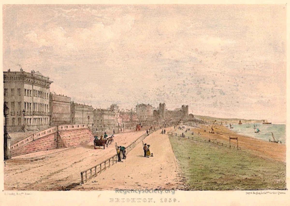 45b. Brunswick seafront looking east 1839