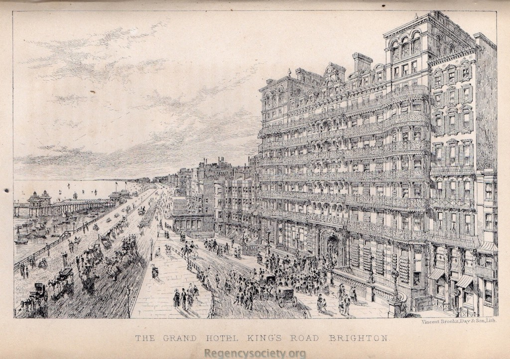 Lithograph by Vincent Brooks, printed by Day & Son Lithographers, and published in 'The History of Brighton and Environs' by Alderman Henry Martin,   John Beal, East Street, Brighton 1871.