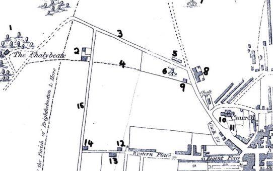 Map from 'Stranger in Brighton' guide