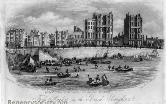 Fish Market on the Beach, Brighton – from the sea