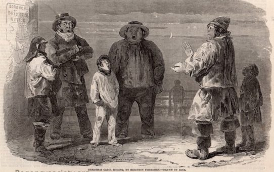 Christmas Carol singing, by Brighton Fishermen