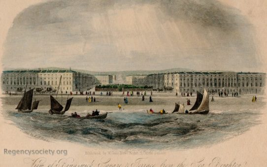 View of Brunswick Square & Terrace from the Sea, Brighton
