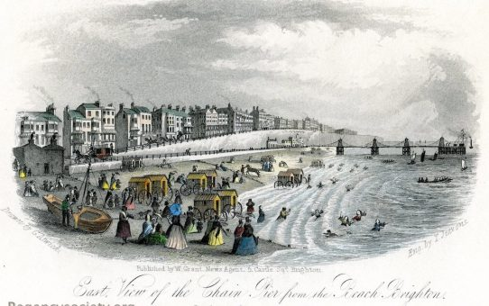East View of the Chain Pier from the Beach, Brighton