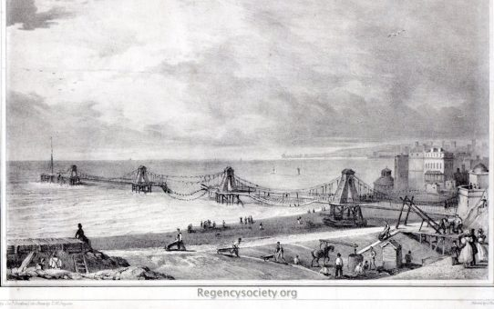 Chain Pier at Brighton As it appeared the Morning after being struck by Lightning on Tuesday Evening 15th October 1833