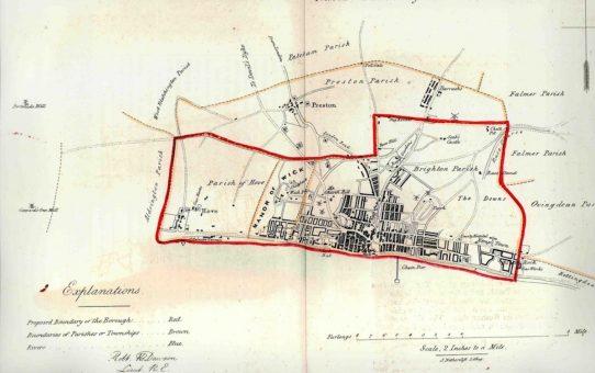 Brighthelmstone.  From the Ordnance Survey 1831
