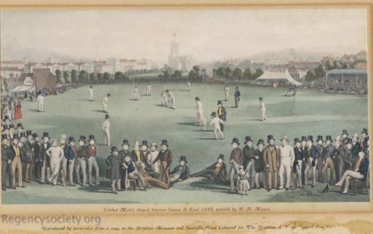 The Cricket Match between Sussex and Kent, 1849