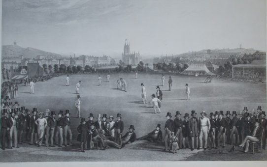 The Cricket Match between Sussex and Kent, at Brighton 1849