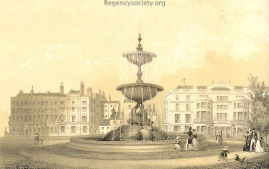 Full view of 'The Victoria Fountain, Brighton. Erected May 26th 1846'