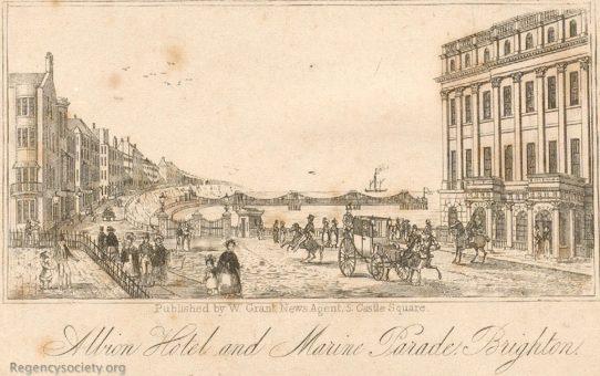 Albion Hotel and Marine Parade, Brighton
