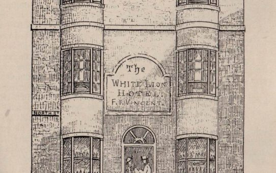 The White Lion Hotel, about 1858