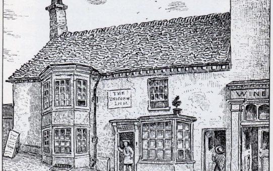 The Unicorn Inn about 1865