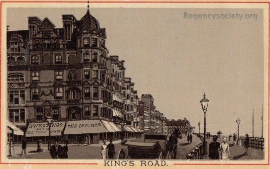 'King's Road' showing the corner of West Street