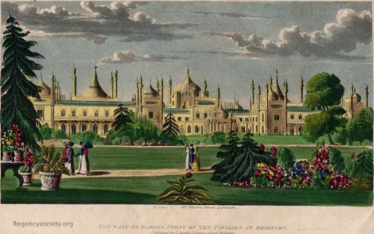 The West or Garden Front of the Pavilion at Brighton