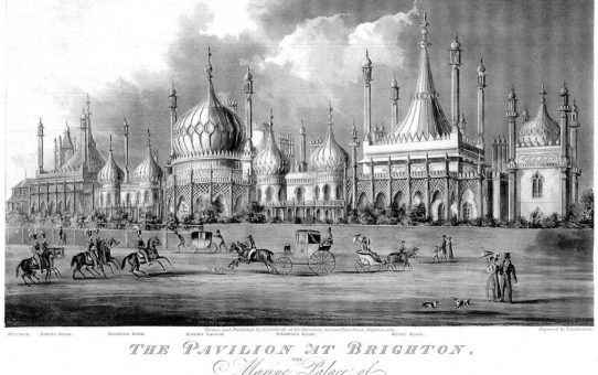 The Pavilion at Brighton, the Marine Palace of His Majesty, George IVth