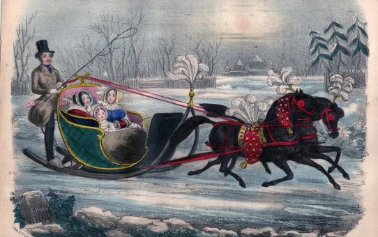 Prince Albert driving the Queen and Princess Royal in their Sledge, at Brighton