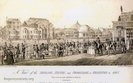 A View of the Pavilion, Steyne and Promenade, Brighton, in 1805