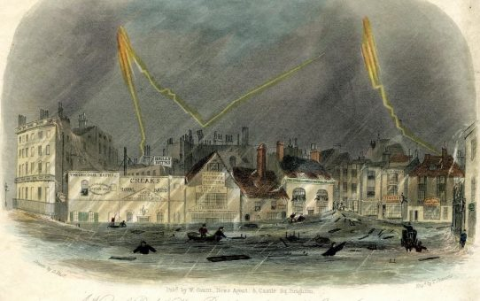 A View of Pool Valley during the storm of July 17th 1850