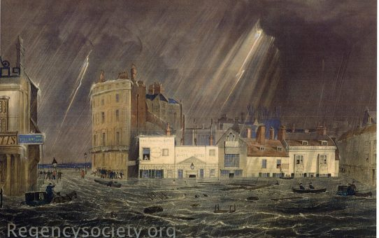 Pool Valley, during the storm at Brighton. July 17th 1850