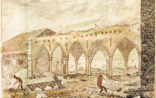 Brighton, St. Nicholas' Church, During the Restoration, 1853