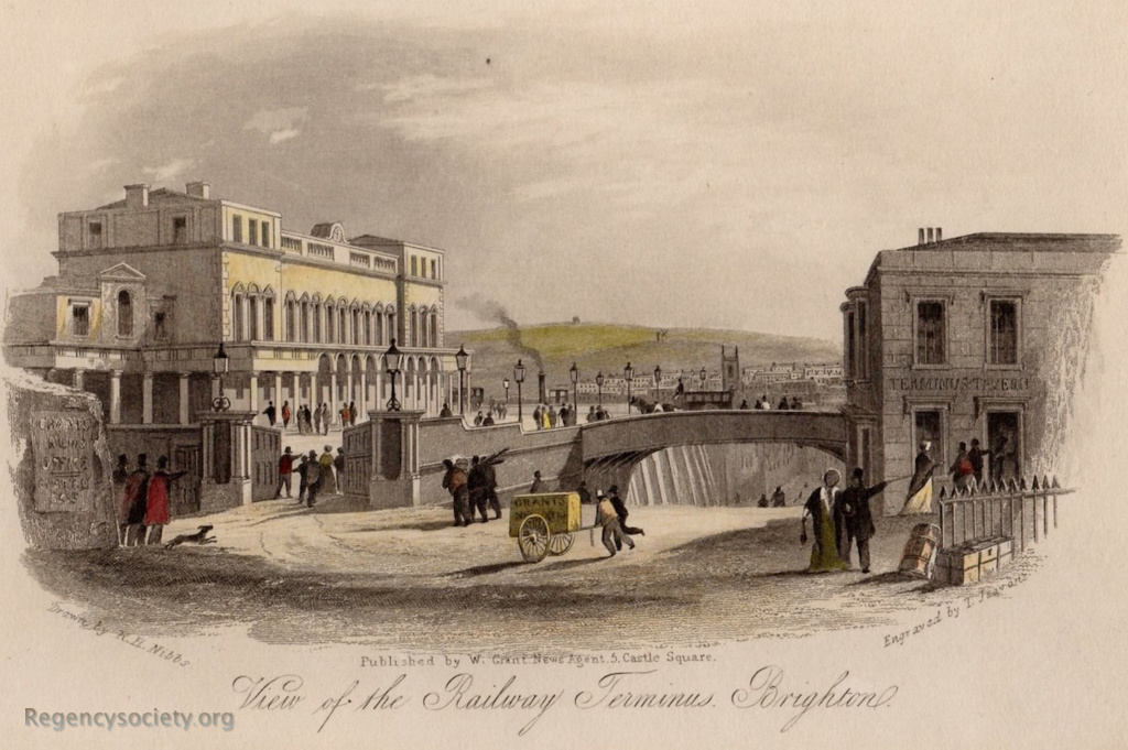 View of the Railway Terminus, Brighton