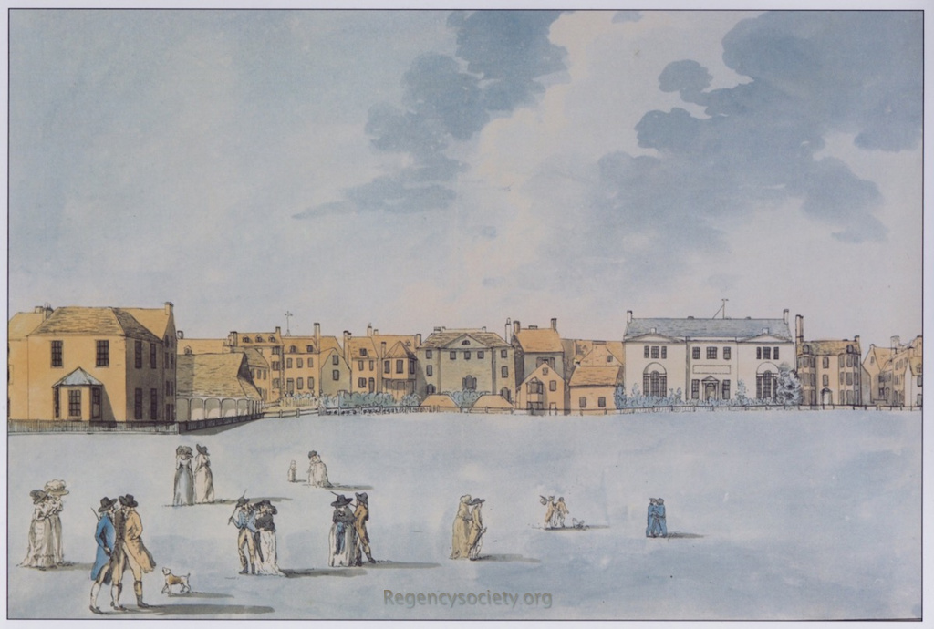 To Mrs. Fitzherbert these 4 Views of the Steine at Brighthelmstone, are with Permission Dedicated by her most obedient & devoted humble servant Eleor. Lay