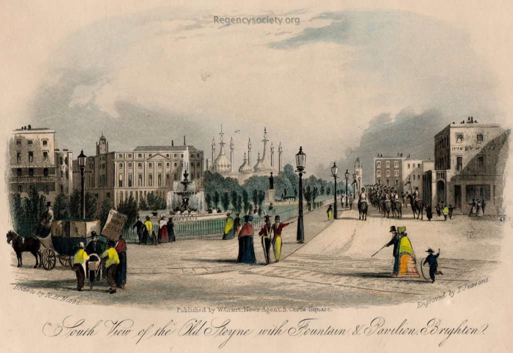 South View of the Old Steyne with Fountain & Pavilion, Brighton