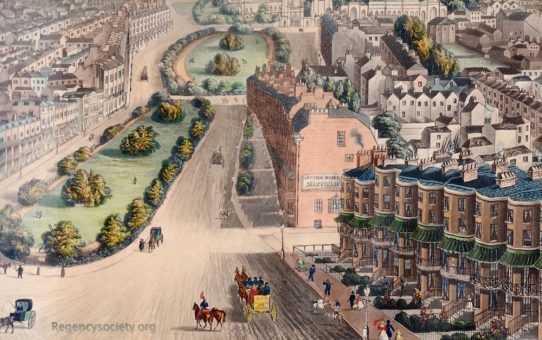 Detail no 3 of Bird's eye View of Brighton, From the New Church, at the Entrance of the Town. Including the Marine Palace of Her Majesty Victoria the First'