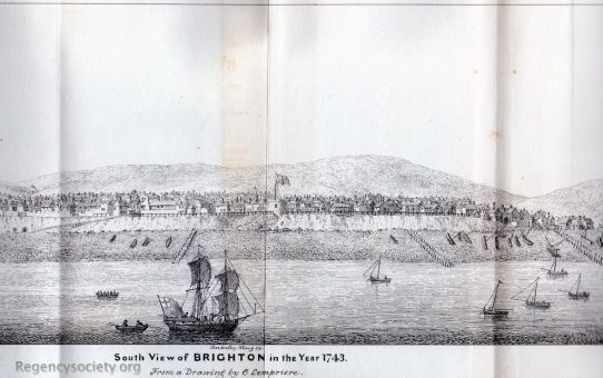 South View of Brighton in the year 1743
