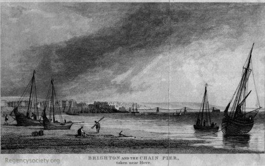 Brighton and the Chain Pier, taken near Hove