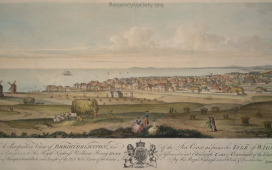 A Perspective View of Brighthelmstone and of the Sea Coast as far as the Isle of Wight